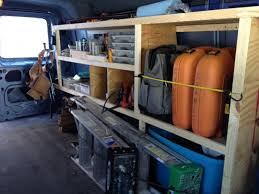 wood storage shelving for cargo vans vehicles contractor talk