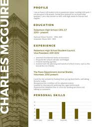 Olive Building Scholarship Resume