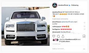 100 Rolls Royce Truck Davido Shows Off His New He Bought As Christmas Gift