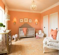 Peach Curtains For Nursery by Curtains And Bedding Brings Orange Glam To Space Savvy Nursery