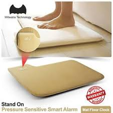 Stand Pressure Sensitive AAA Battery Smart Alarm Clock Mat