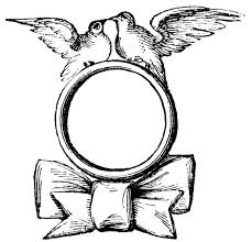 Vintage Wedding Clip Art Ring With Doves The Graphics Fairy