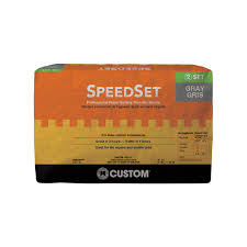 custom building products speedset 25 lb gray fortified thinset
