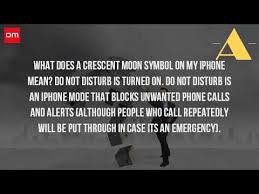 What Does The Moon Mean The Iphone