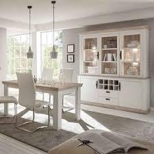 lomadox esszimmer set ferna 61 spar set 3 tlg buffetschrank und esstisch set im landhaus stil in pinie weiß und oslo dunkel nb ohne stühle