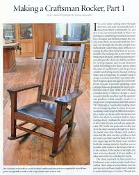 1861 Craftsman Rocking Chair Plans