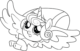 My Coloring Pages Little Pony Flurry Heart Equestria Girl
