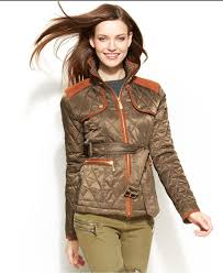 Vince Camuto Faux-Suede Quilted Belted Jacket In Green   Lyst Shop Womens Outerwear Blains Farm Fleet Tommy Hilfiger Quilted Collarless Barn Jacket In Blue Lyst Sts Ranchwear Brazos Softshell Boot Jackets Vests Clothing Women Levis Great Britain Uk Plus Size Coats For Lane Bryant Western Coats Womens Fringe Jackets Women Woolrich Dorrington Men Betabrand Nautica Diamondquilted At Amazon Isaac Mizrahi Live Lamb Leather Mixed Page Rust Tweed Ma1016 Western Montanaco Nrsworldcom