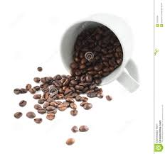 Coffee Beans Spilling Clipart No Background