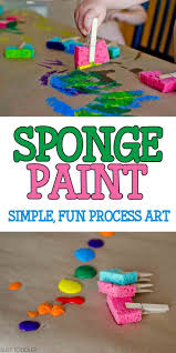 Simple Arts And Crafts For Kids Sponge Painting Process Art Of
