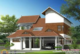 Pitched Roof House Designs Photo by Modern Sloping Roof House Villa Design Kerala Home And Pitched