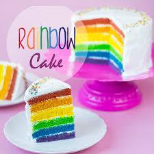 rainbow cake ein kuchen so bunt wie ein regenbogen vegan