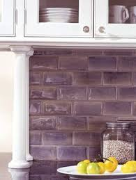 purple tile backsplash for the home kitchens