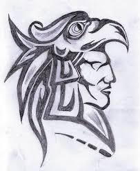 Aztec Warrior Face Tattoo Design