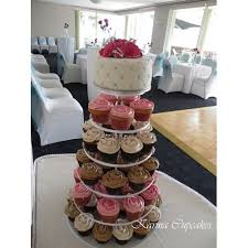 Elegant Assorted Wedding Cupcake Tower