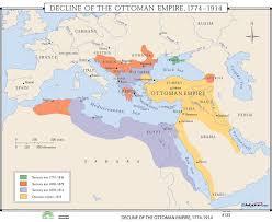 Universal Map World History Wall Maps Decline of Ottoman Empire