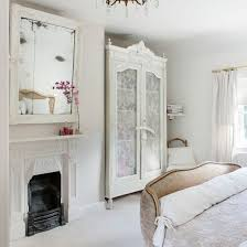 French Style Pretty Bedroom In Pure White