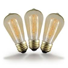st64 clear vintage filament edison light bulb e26 medium base 60