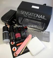 galactic lacquer sensationail gel polish starter kit review