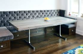 Grey Wood Dining Table Hand Crafted Reclaimed