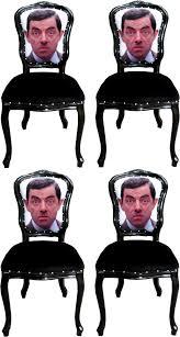 casa padrino luxus barock esszimmer set karikatur mehrfarbig schwarz 55 x 54 x h 103 cm 4 handgefertigte esszimmerstühle designer stühle