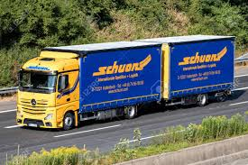 Schuon Truck On Motorway. Schuon Is A German Logistics Company ...