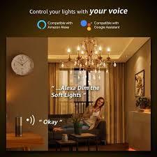 le 4 5w smart e14 led len warmweiß und kaltweiß dimmbar led leuchtmittel kerzen wlan led birnen ersatz für 40w glühbirne kompatibel mit