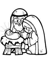 Click To See Printable Version Of Nativity Scene Coloring Page