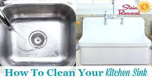 clean kitchen sink drain how to your with vinegar ceramic baking