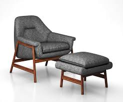theo show wood chair and ottoman by west elm 3d model max obj mtl tga
