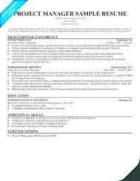 Project Manager Resume Sample Management This Is Construction