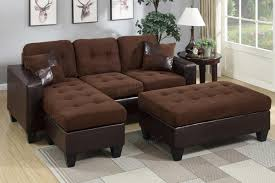 Poundex Bobkona Sectional Sofaottoman brown leather sectional sofa roselawnlutheran