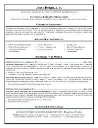 Rn Resume Sample Objective Er Nurse Example