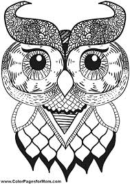 Owl Coloring Pages For Adults Design Inspiration