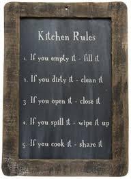 Framed Kitchen Rules Blackboard