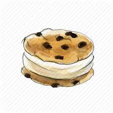 chip chocolate cookie cream dessert ice icecream sandwich