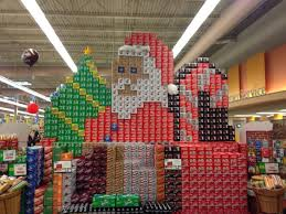 My Local Grocery Store Got Creative With Their Soda Can Box Display This Holiday