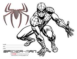 This Digital Photography Of Spiderman Coloring Printouts Black White Has Dimension 660 X 510 Pixels