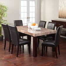 unique dining room tables four pieces covered leather dining