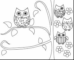 Spectacular Printable Owl Coloring Pages Adult With Free Color And