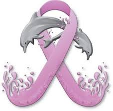 Pink Ribbon Dolphin Tattoo