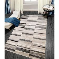 Home Dynamix Bazaar City Stripes Gray 5 ft 2 in x 7 ft 2 in