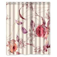 Sweet Jojo Chevron Curtains by Shower Curtains Roses Shower Curtain Bathroom Pics Sweet Jojo