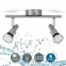led badle ip44 deckenstrahler badezimmer gu10 2er spot decke leuchte le 5w ebay
