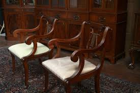 Captains Chairs Dining Room by Lyre Back Dining Room Chairs Lyre Back Dining Chairs Pair Of Arms
