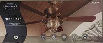 Harbor Breeze 52 Inch Bellhaven Ceiling Fan by Merrimack 52 In Antique Bronze Downrod Mount Indoor Outdoor