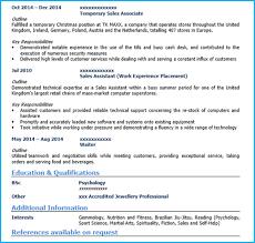 Sales Assistant CV Page 2