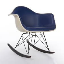 Original Blue Vinyl Herman Miller Eames RAR Rocking Arm Shell Chair Black 2014 Herman Miller Eames Rar Rocking Arm Chairs In Very Good Cdition White Rocking Chair Charles Ray Eames And For Vintage Brown By C Frank Landau For Sale Rope Edge Chair 1950s Midcentury Modern Rar A Pair 1948 Retro Obsessions