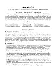 Communication Resume Objective Examples On Entry Level