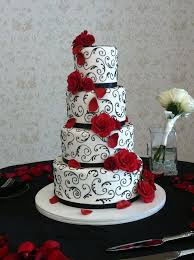 Red And Black Wedding Cakes Red And Black Wedding Cakes Wedding Ideas